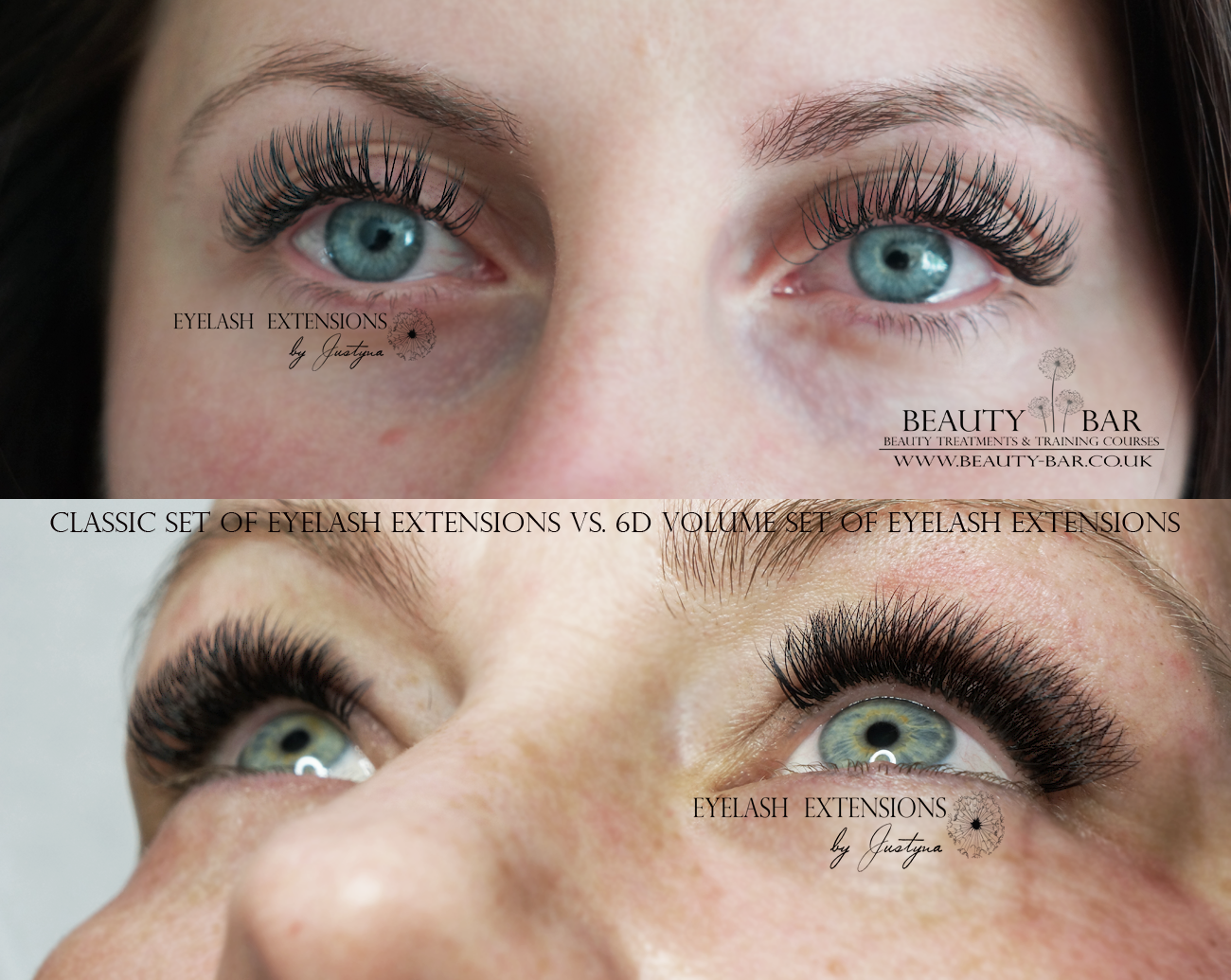 cab2c79cf46 Difference between classic full set of individual eyelash extensions (200  lashes per set) and volume 6D set of eyelash extensions (1200 lashes per set )