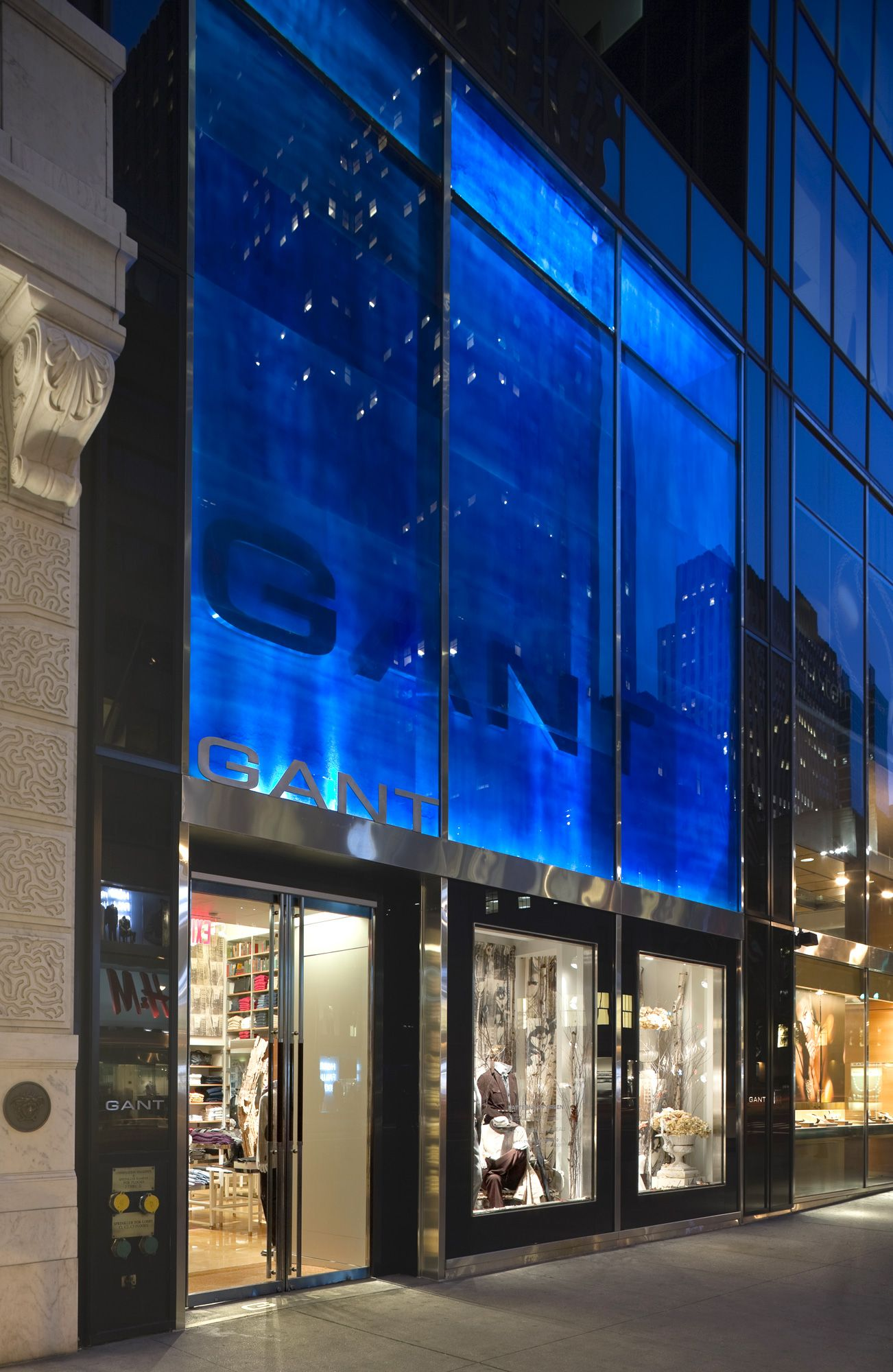 Store Exteriors Fronts Retail Design Gant Flagship Architecture