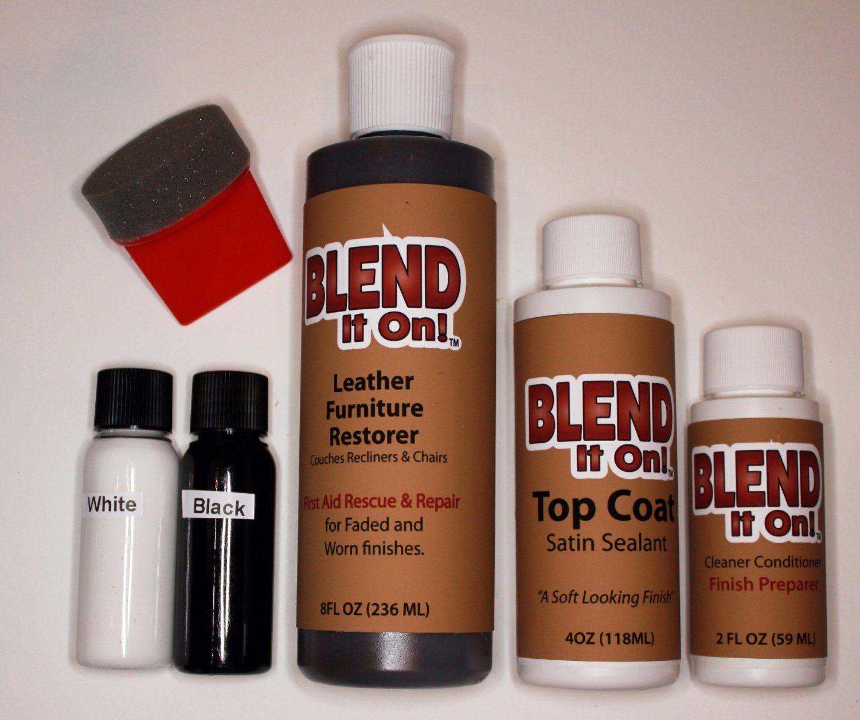 Amazon.com: Furniture Blend It On MEGA Kit / Leather Restorer / 8 Oz ...