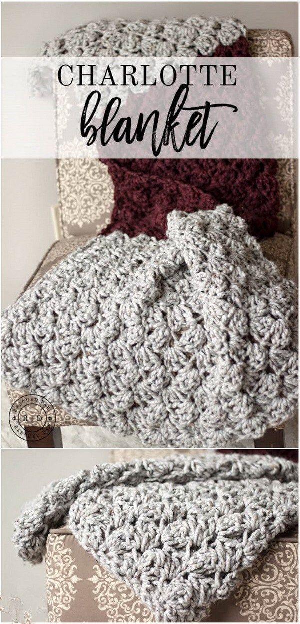 35+ Free Crochet Blanket Patterns & Tutorials | Mantas de ganchillo ...
