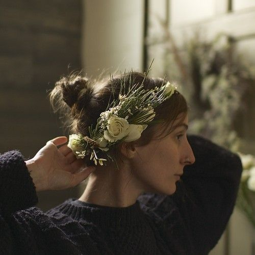 Today the Foret girls are teaching us how to make a Wintery Floral Head Wreath