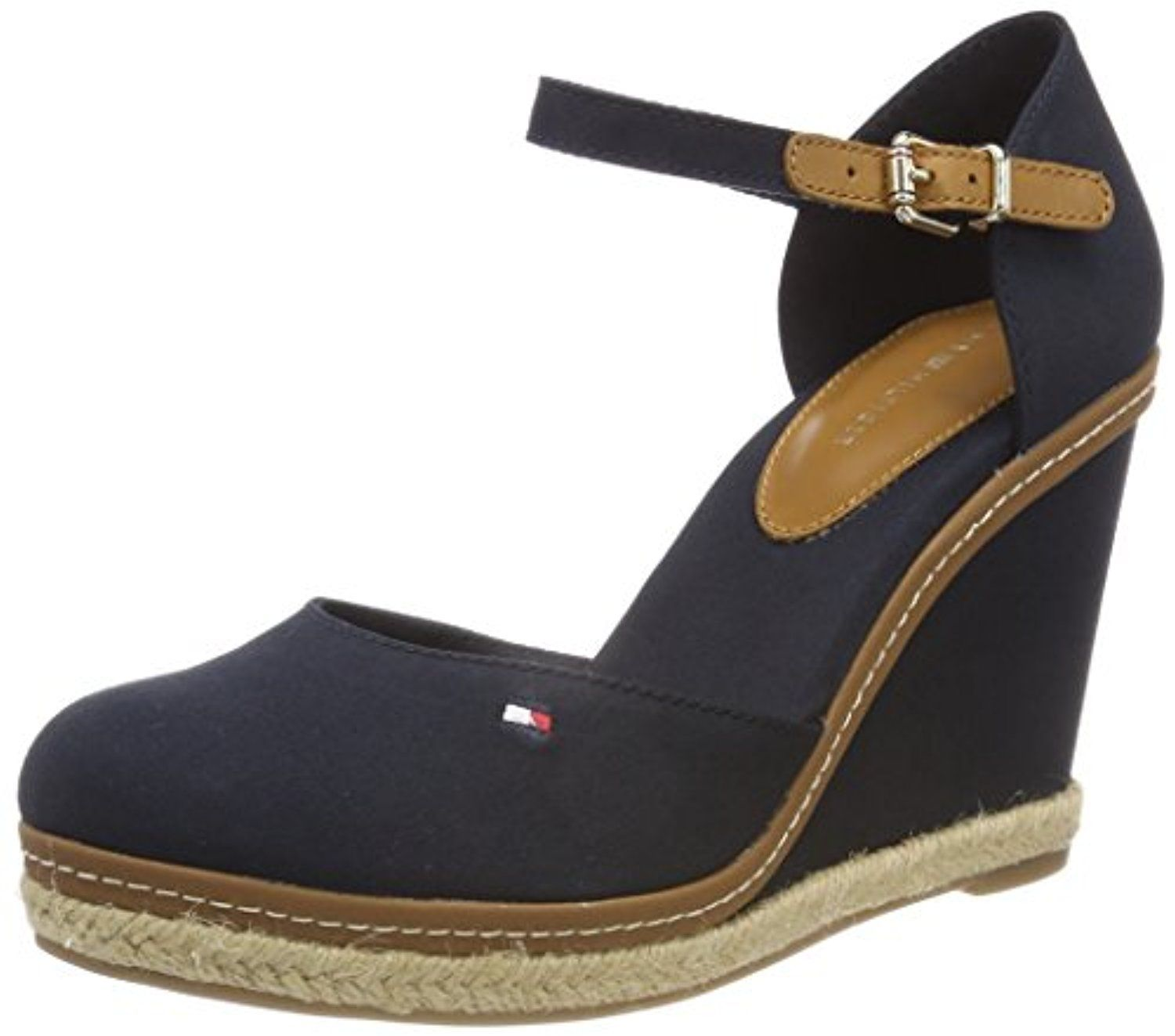 bf9a09c0f9b Tommy Hilfiger Iconic Basic Closed Toe Wedge, Espadrilles Femme 2018 ...