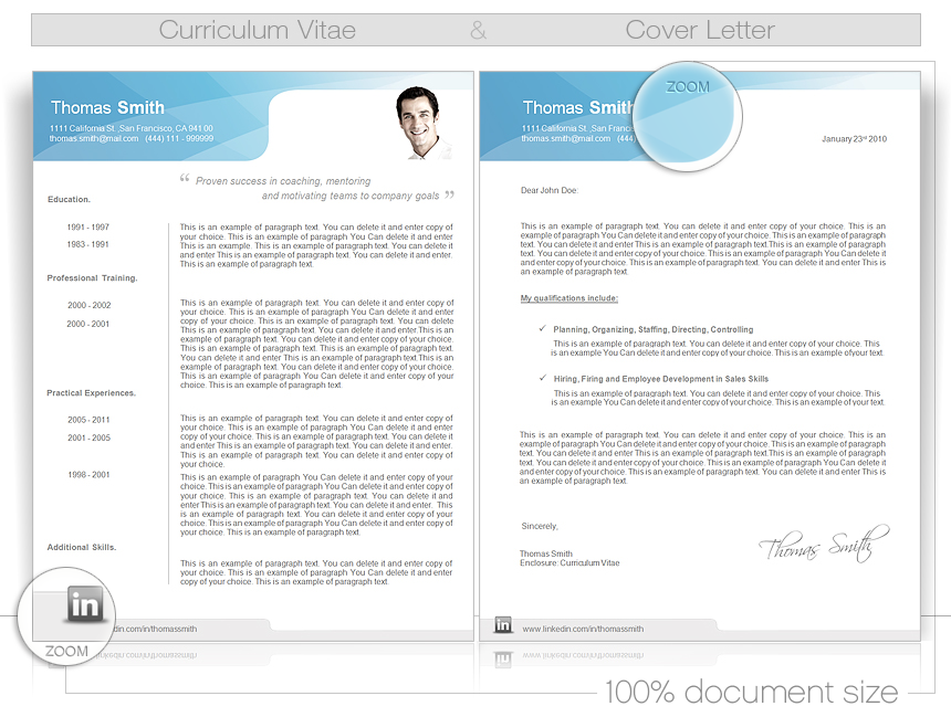 Cv Word Template Cv Templates Give You Full Control Over Your Cv