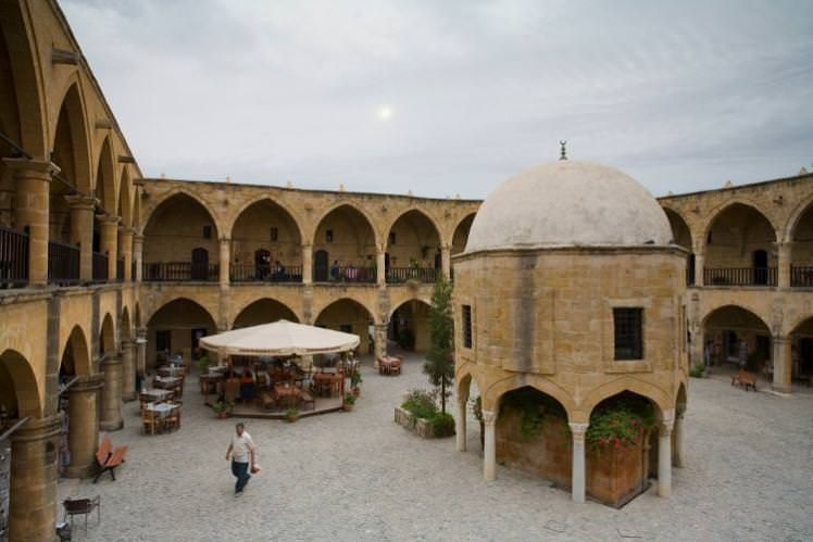 Büyük Han, the Ottoman caravanserai in North Nicosia (Lefkoşa). Image by Juergen Richter / LOOK-foto / Getty Images