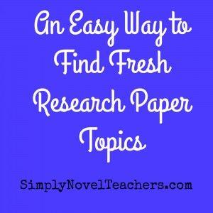 research paper topics high school english