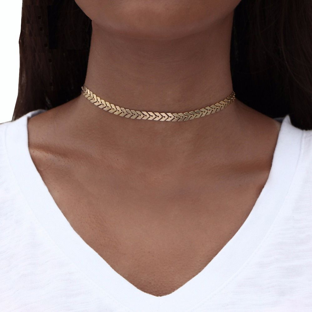 collier ras de cou femme tendance