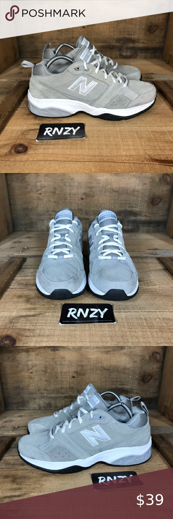 new balance 623 grey suede