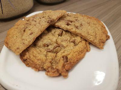 Cookies! Jeg har skrevet ned flere oppskrifter på cookies, men dette var de første jeg forsøkte...
