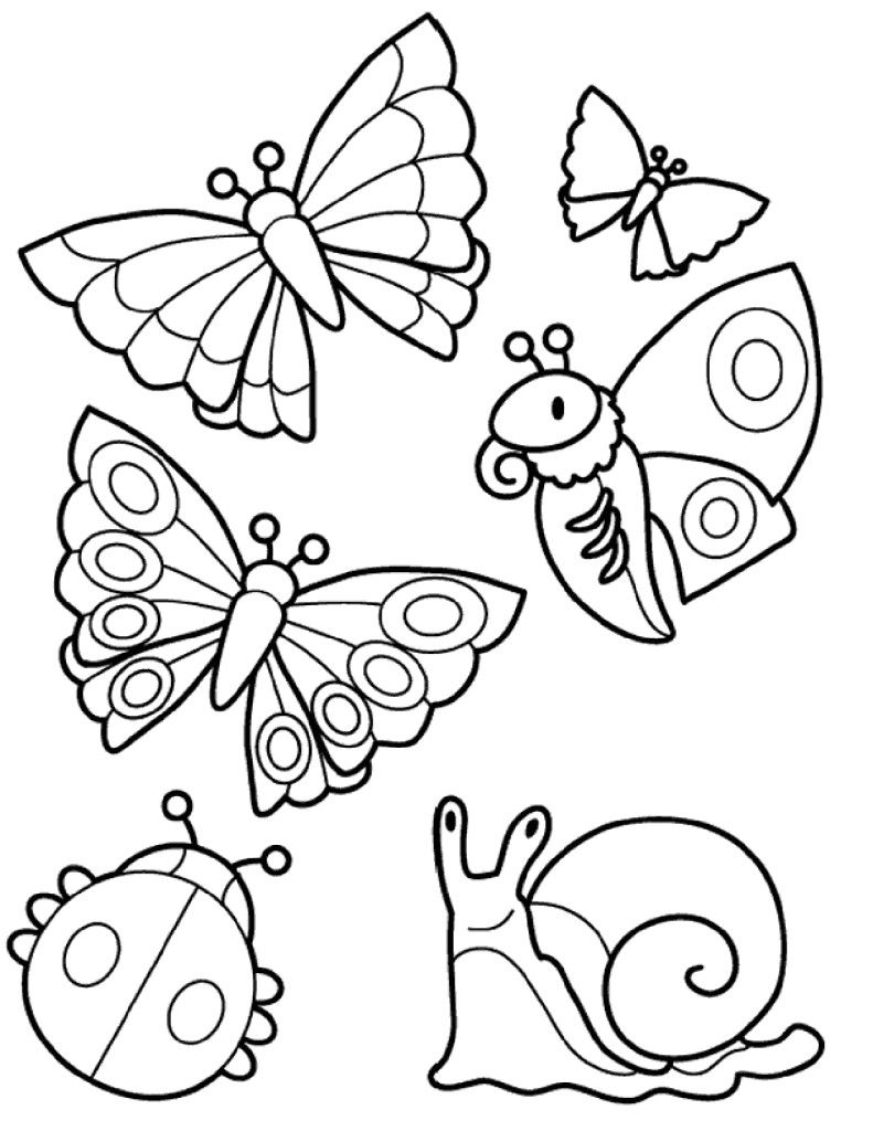 раскраски для детей, детские раскраски для творчества в ...