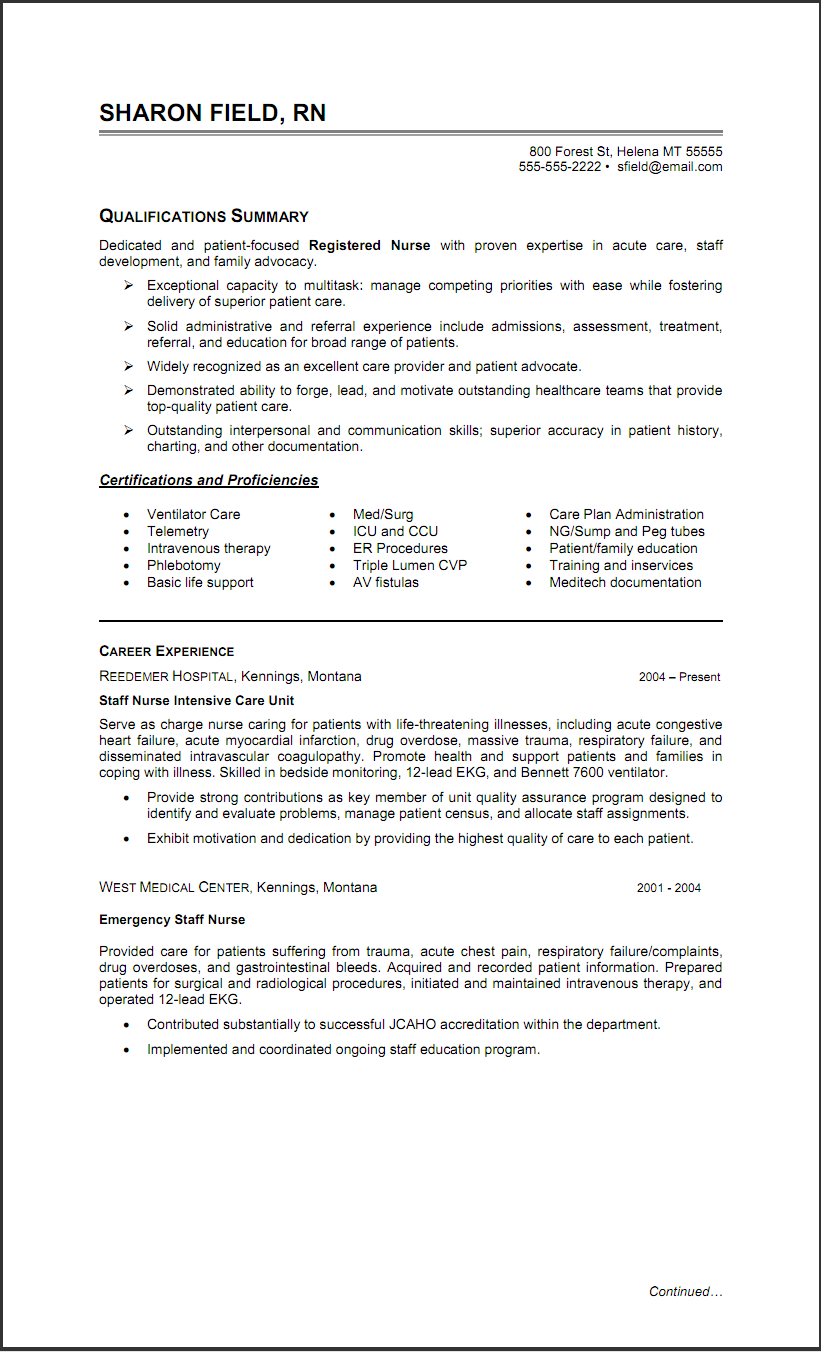 Er Rn Resume Simple Triage Nurse Resume Sample  Httpwww.resumecareertriage .