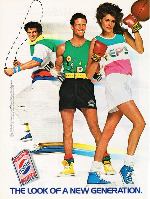 I remember people wearing Pepsi apparel when I was a kid in the 80s!