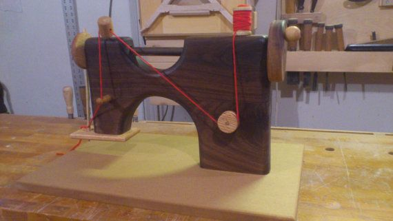 Toy sewing machine solid wood. by YeOldeWoodworker on Etsy