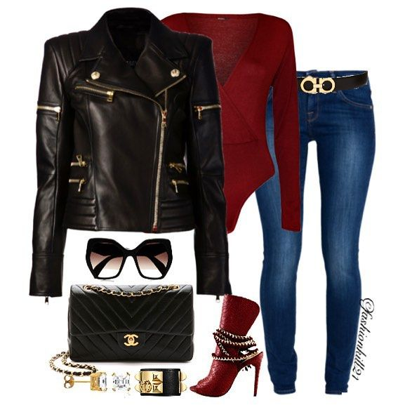 80200c6905287 Cute And Simple #bae DETAILS: Jacket #Balmain Bodysuit #Wearall Sunglasses  #Prada Bag #Chanel Earrings #Foreverbrilliant Bracelet #Getmes Shoes  #Taviapshoes ...