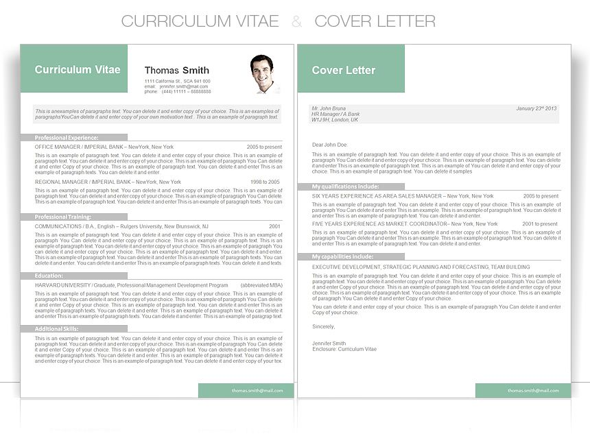 cv template cv template package includes professional layout for 3 pages 2xcv - Words Resume Template