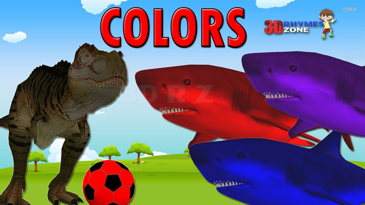 Learn Colors 3d Lesson | Dinosaurs Vs Fish | Teach Colors For ...