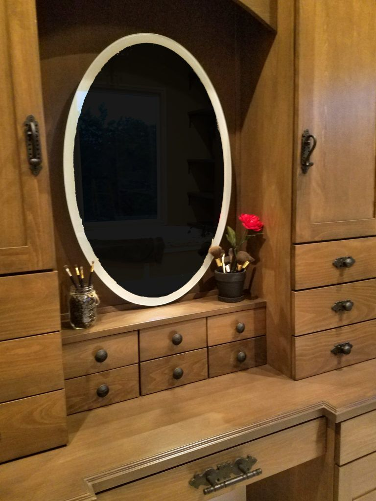 Revamping with old world hardware pieces this client brought rustic style to her shabby chic space