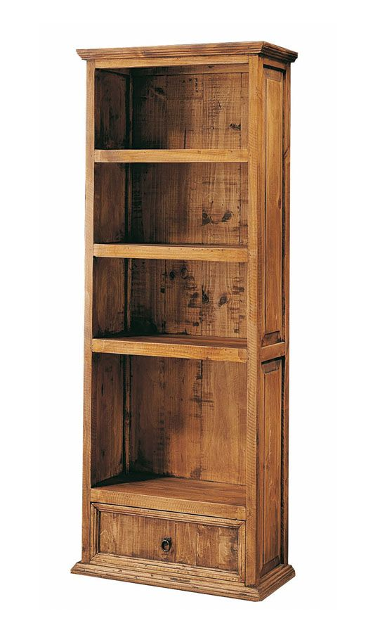 Librer as de madera natural modelo bookstore en 2019 for Muebles rusticos de madera