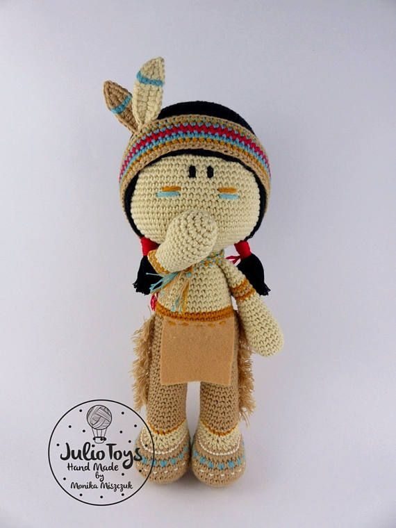 Cochise Indian -PDF crochet pattern | Patrón de ganchillo, Indio y ...