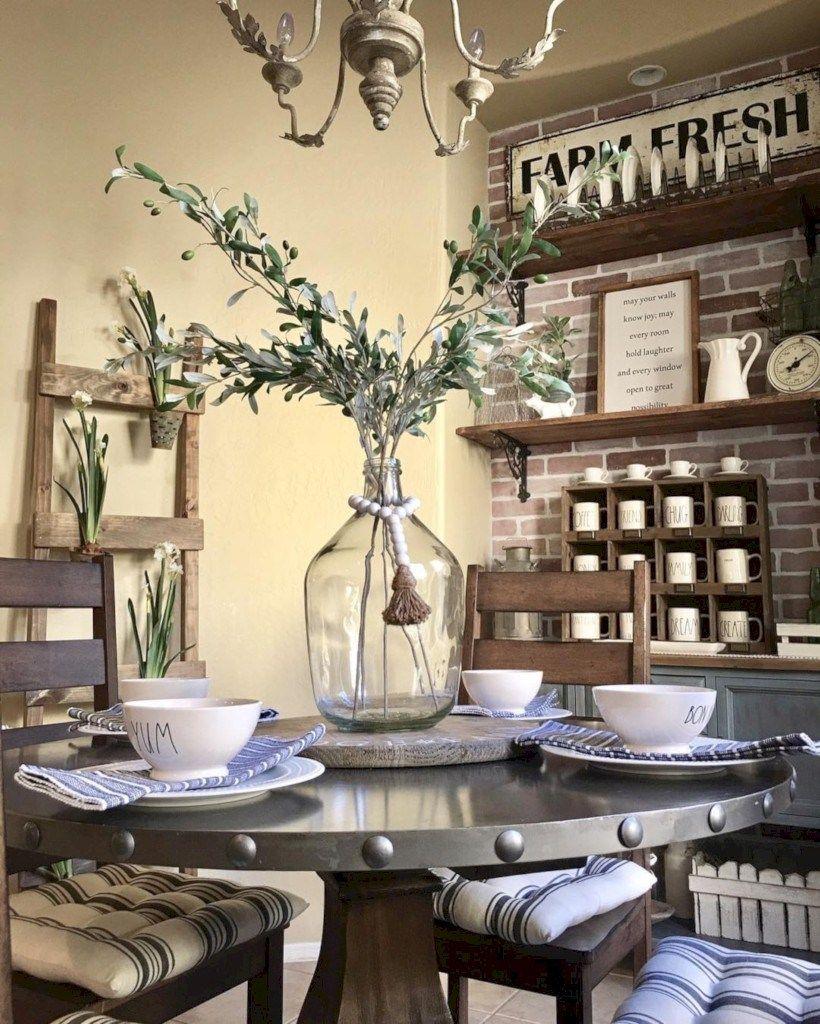 35 Rustic Farmhouse Dining Room Table Decor Ideas Home Decor Best Home Decor Ideas Modern Farmhouse Dining Room Farmhouse Decor Living Room Farmhouse Dining Room Table