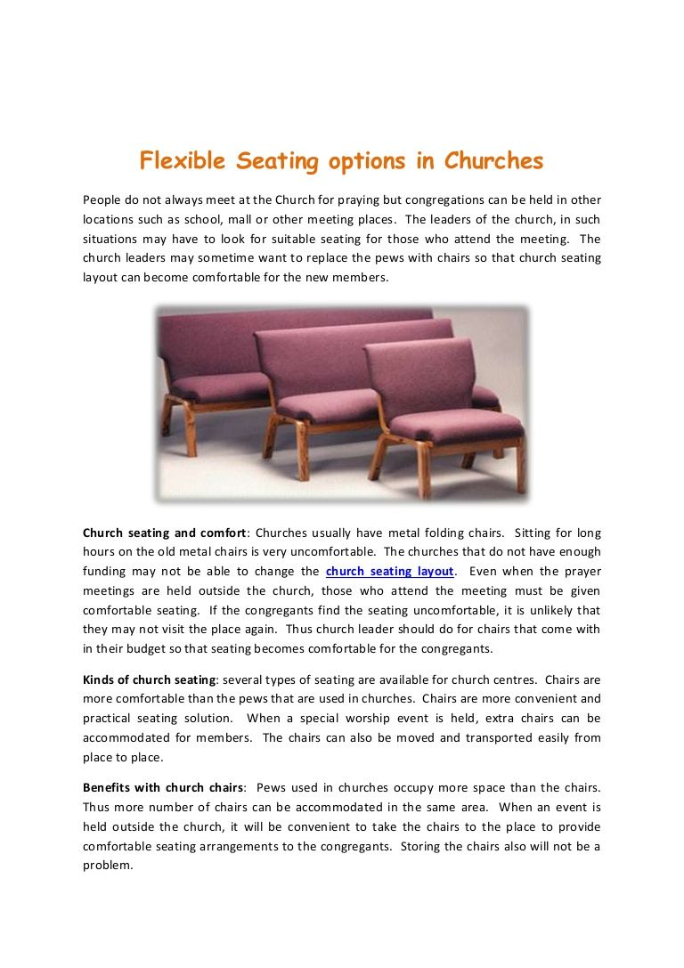 Get Best Options In Church Seating Seating Comfortable Seating