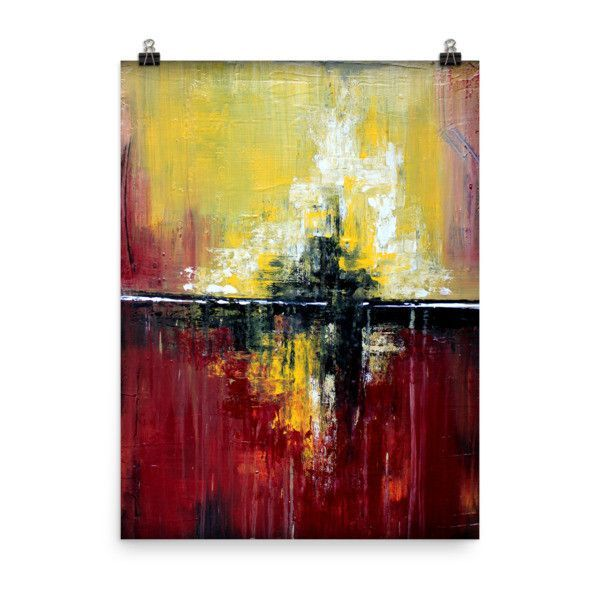 Shanghai - Red Wall Art - Poster Print | Red wall art and Products