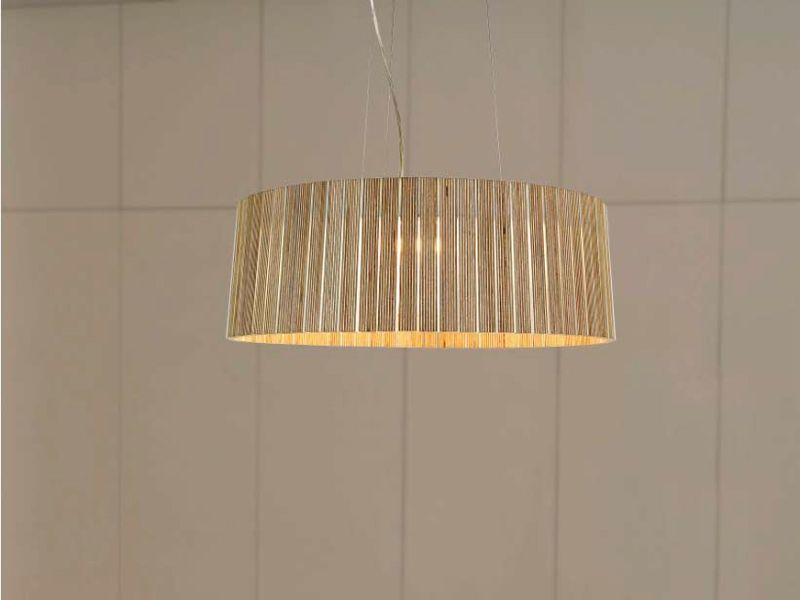 Multi-layer wood pendant lamp Shio Collection by arturo alvarez