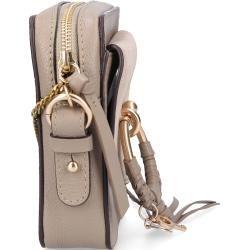 See By Chloé Handtasche Joan Kamera Bag Rindsleder Veloursleder Logo beige Chloé