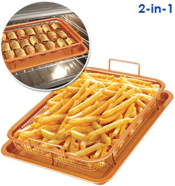 Copper Oven Air Fryer 2 Pc Set For Sale Oven Fries