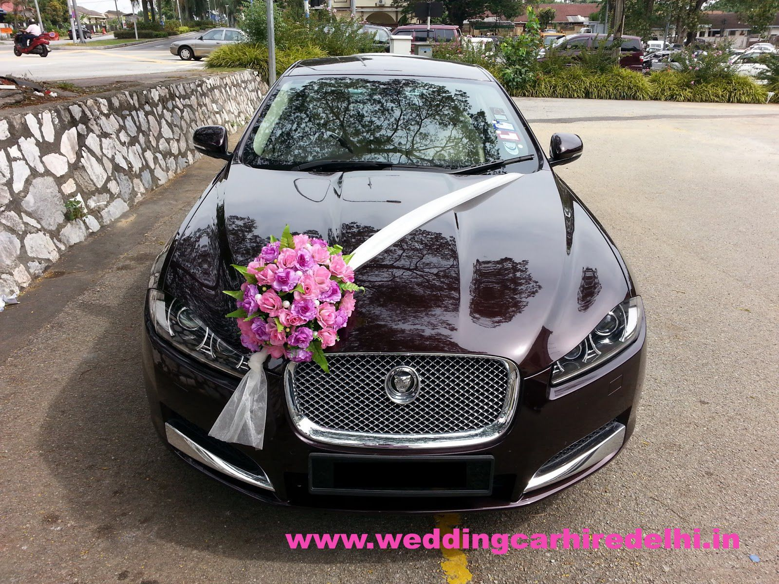 Looking For Car For Your Wedding? Jaguar XF   Flower Decorations ~ Bridal  Car By RedOrca Sdn Bhd