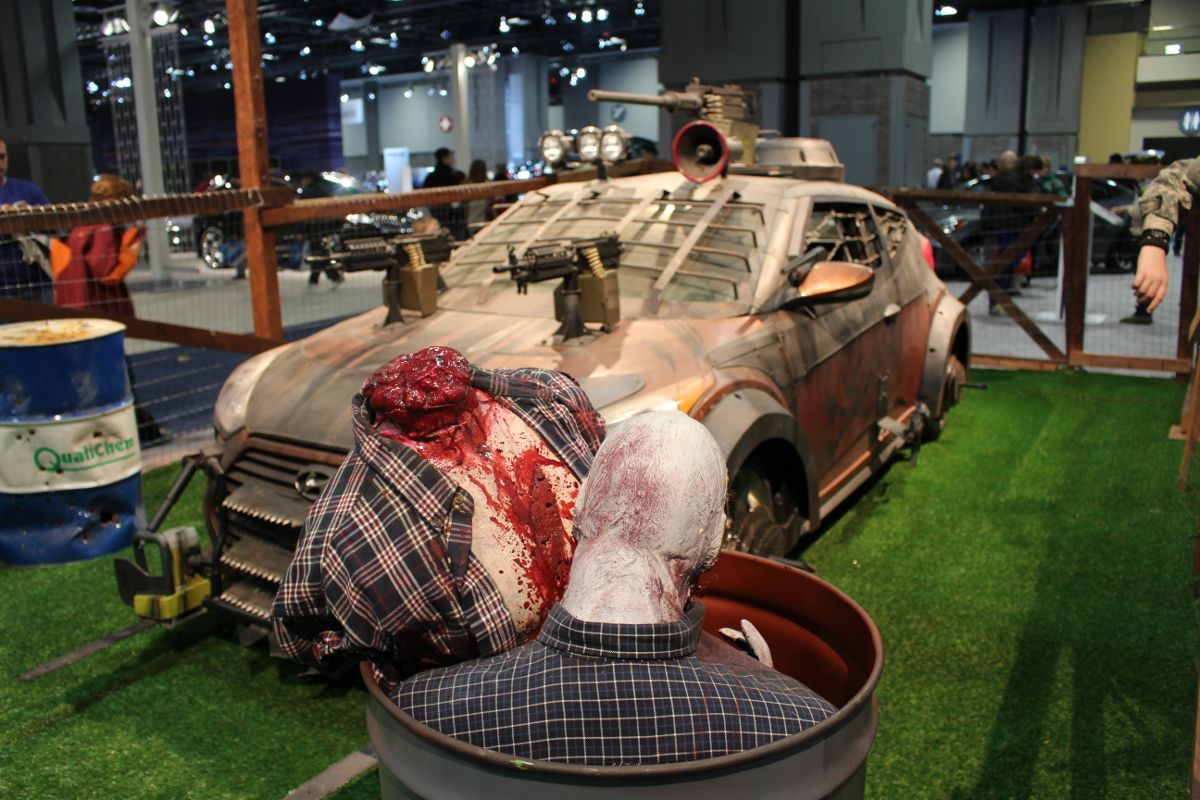 walking dead hyundai  trunk or treat  pinterest  cars