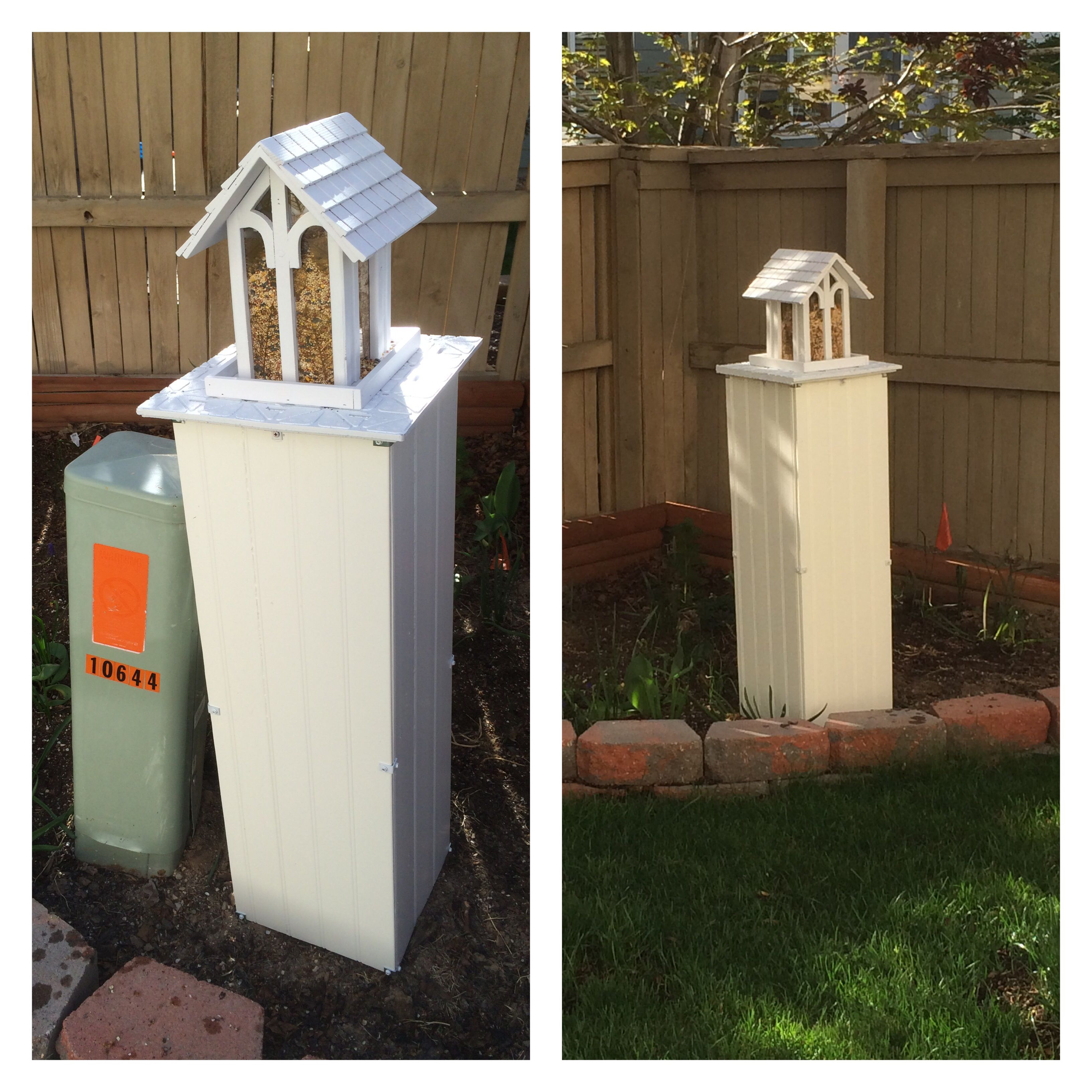 Utility box cover utility box cover pinterest box for Landscape rock utility cover