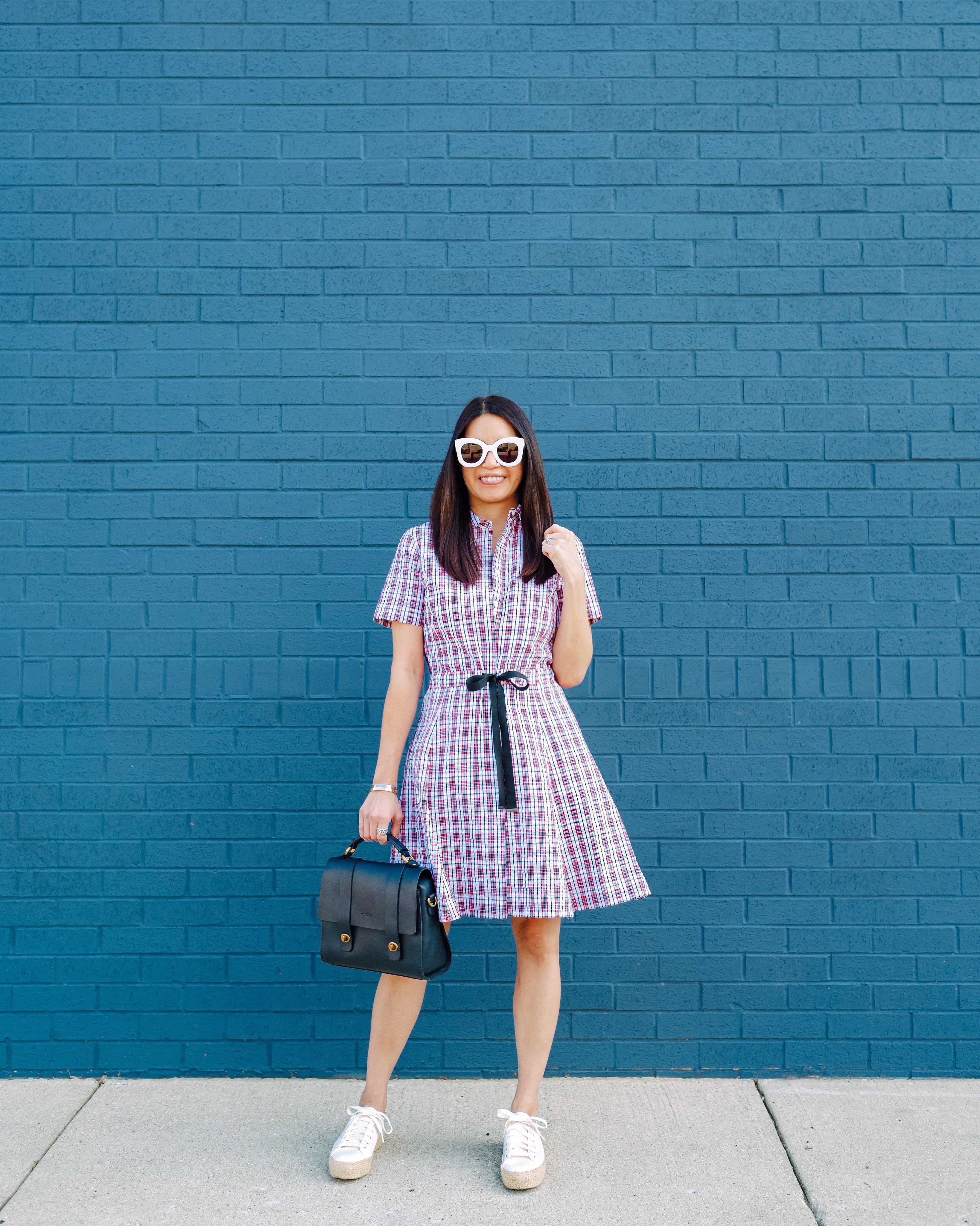 Plaid Cotton Seersucker Shirt Dress Brooks Brothers Shirt Dress Shirt Dress Summer Dresses [ 4096 x 3276 Pixel ]