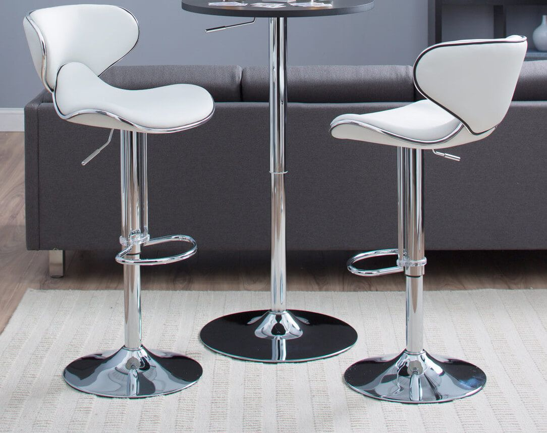 35 Stylish Modern Adjustable White Leather Bar Stools Mit Bildern