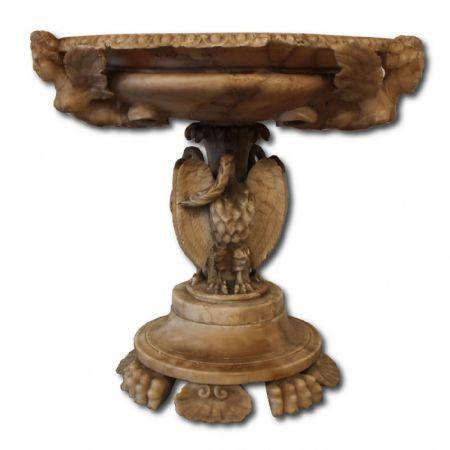 centrotavola antico in alabastro Antiquariato su Anticoantico