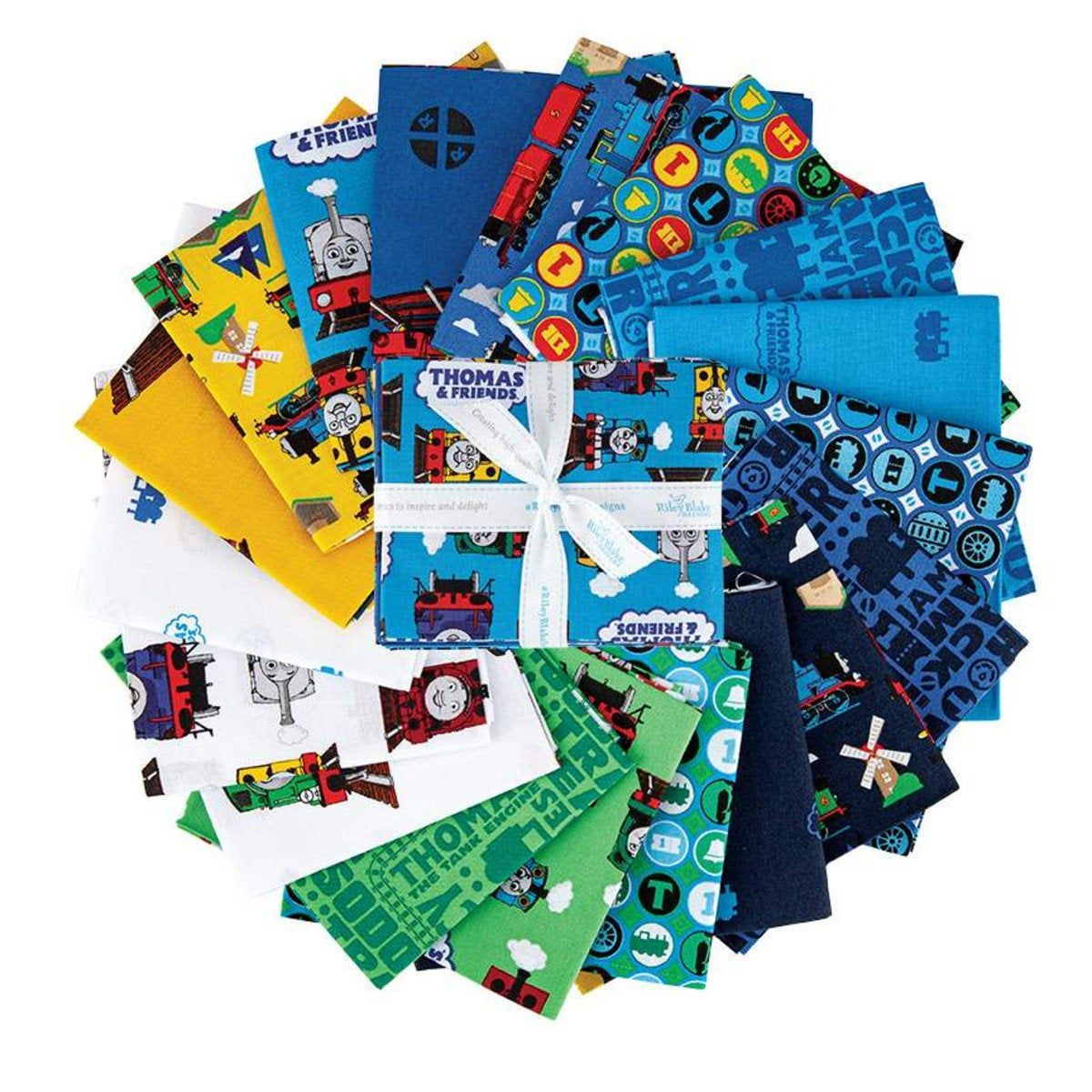 All Aboard Thomas and Friends 18 Piece Fat Quarter