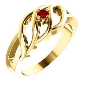 14kt Yellow 1 Stone Ring Mounting for Mother.... #gold #giamond #fashion #style #jewelry #ring #motherring #richmondgoldanddiamond