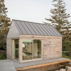 tiny cabin compound in old quarry in maine stand alone guest rooms rh pinterest com