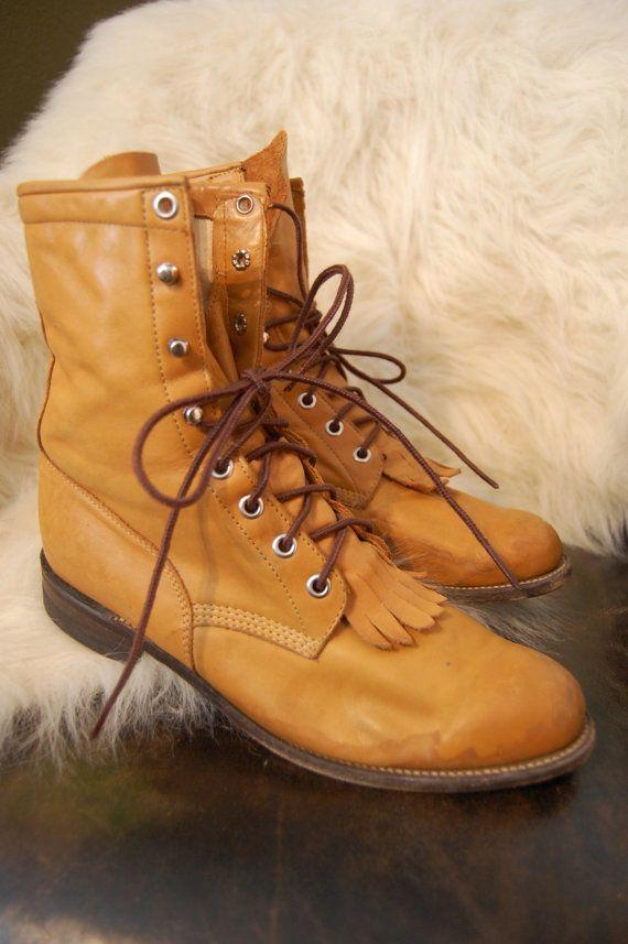 8febabfe69dac Vintage Justin cowboy western kiltie roper boots | shoes | Roper ...