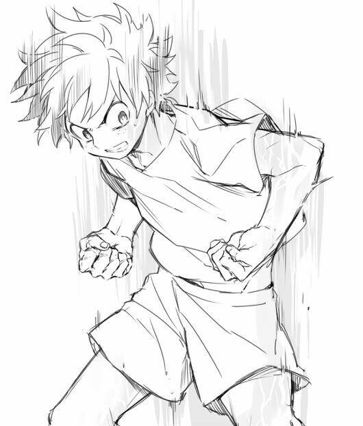 How To Draw Izuku Midoriya Deku My Hero Academia