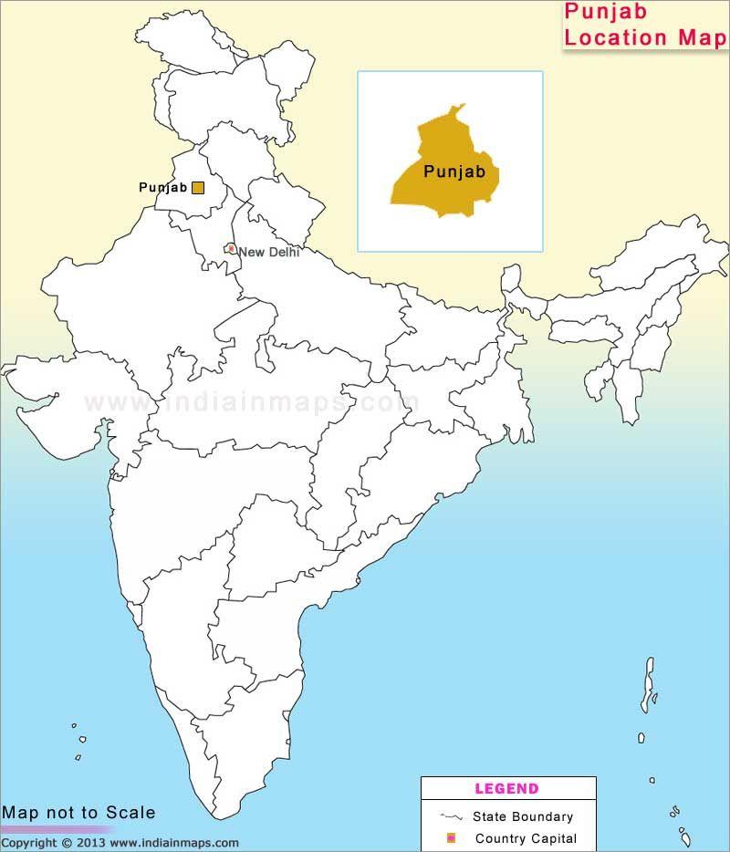Punjab Location Map Location Map Map India Map