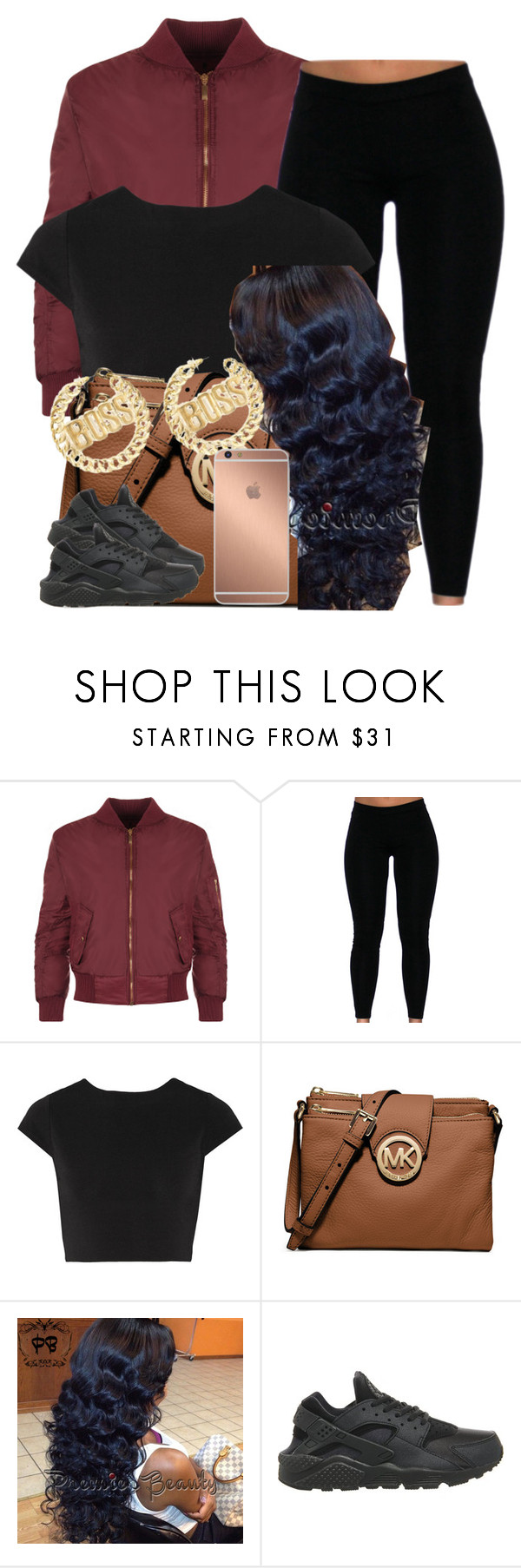 """""""."""" by newtrillvibes ❤ liked on Polyvore featuring WearAll, Alice + Olivia, MICHAEL Michael Kors, NIKE, Mura, women's clothing, women, female, woman and misses"""