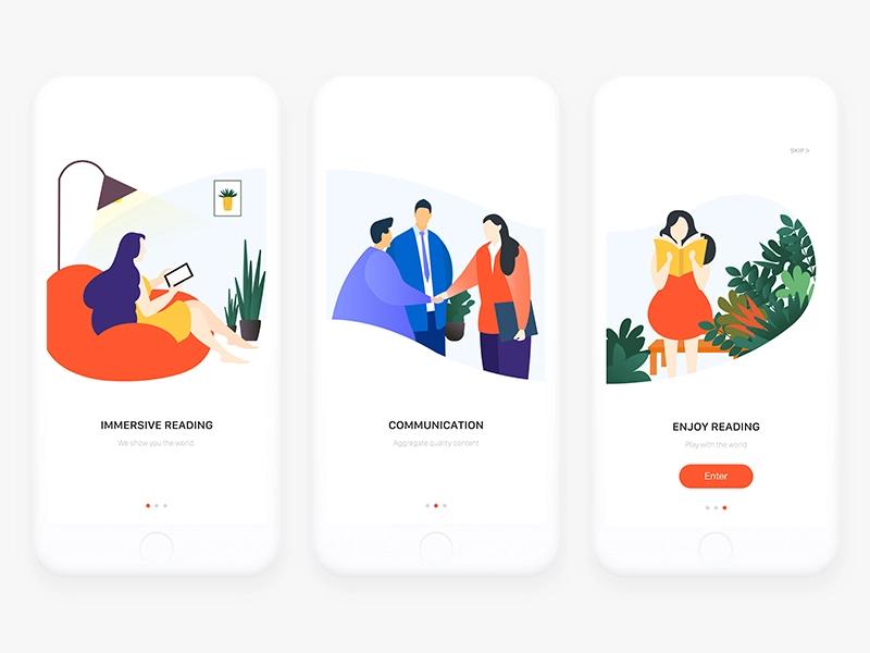 Onboarding Illustrations | Onboarding app, Web design, App design