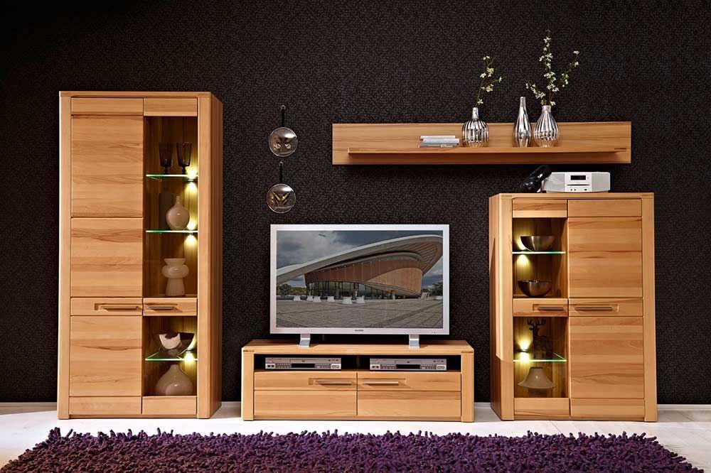 Genial wohnwand buche nachbildung  Hausdesign  Wohnwand