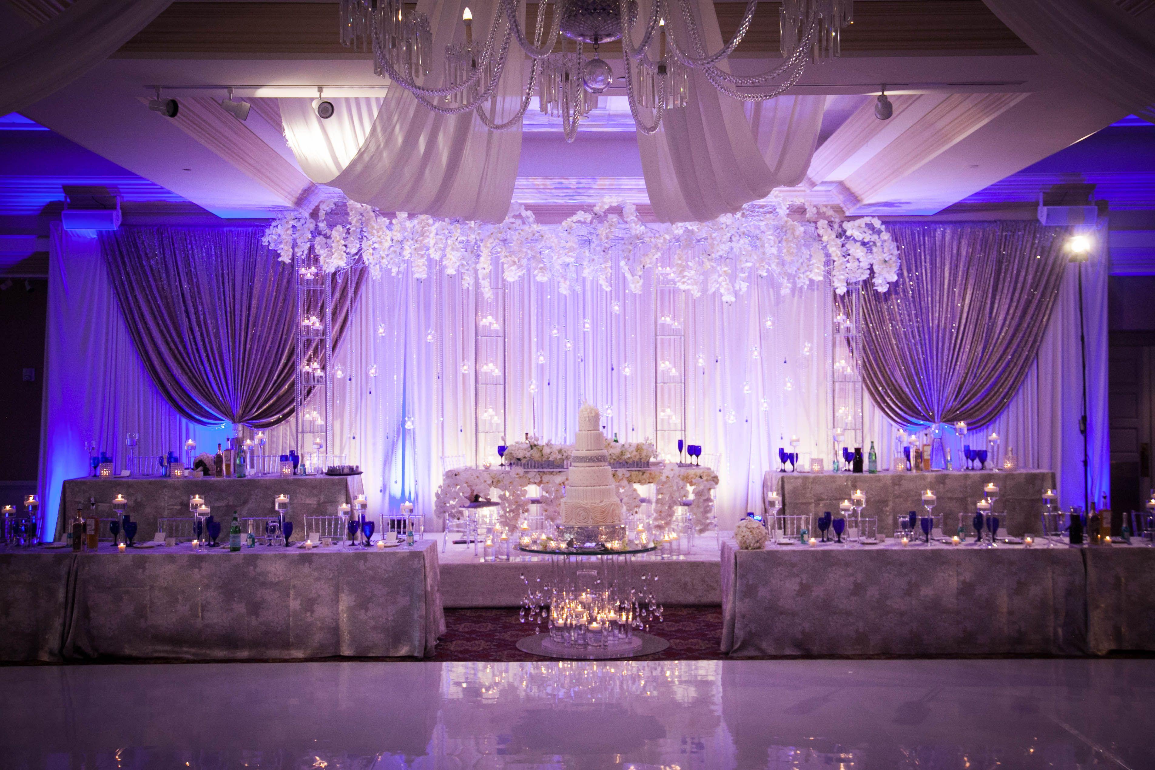Bridal Party Stage Decor By Yanni Design Studio Wedding Decorations Stage Decorations Stage Backdrop