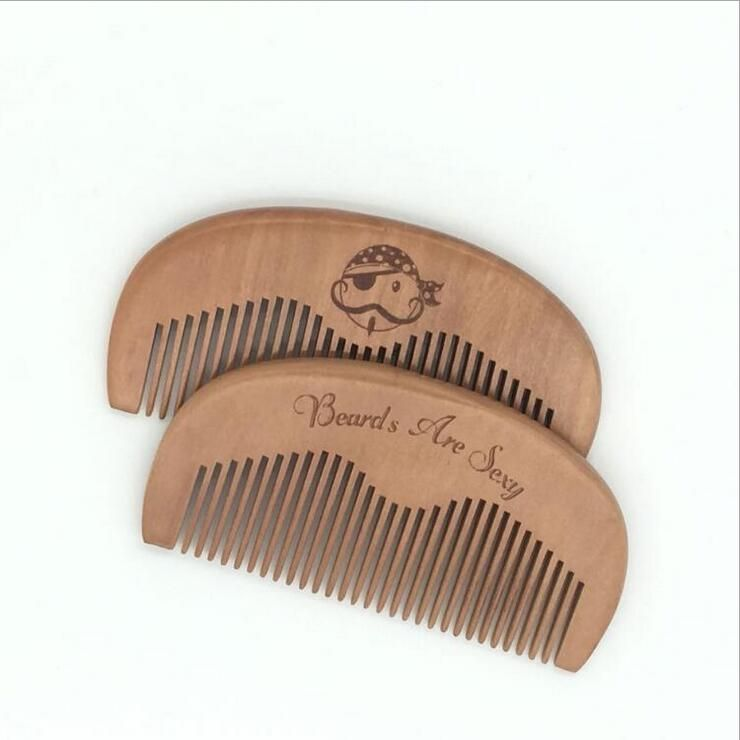 Wooden Beard Comb 7 Pocket Wood Combs With Attractive Designs