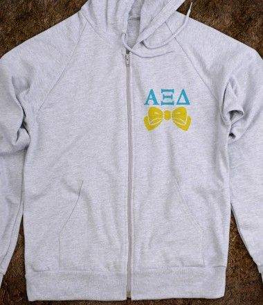 Alpha Xi Delta Zip Hoodie - Alpha Xi Delta sorority shirts. CLICK HERE to purchase :) Buy 1 or 100!