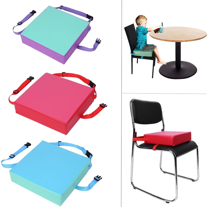1pc Chair Seat Cushion Kids Increased Chair Pad Dining Chair Cushion Removable Kid Children Highchair Seat Pad With Buckle Strap Dining Chair Cushions Chair Cushions Seat Pads