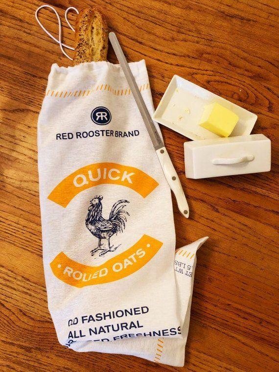 Bread Bag Saver Rooster Handmade Food
