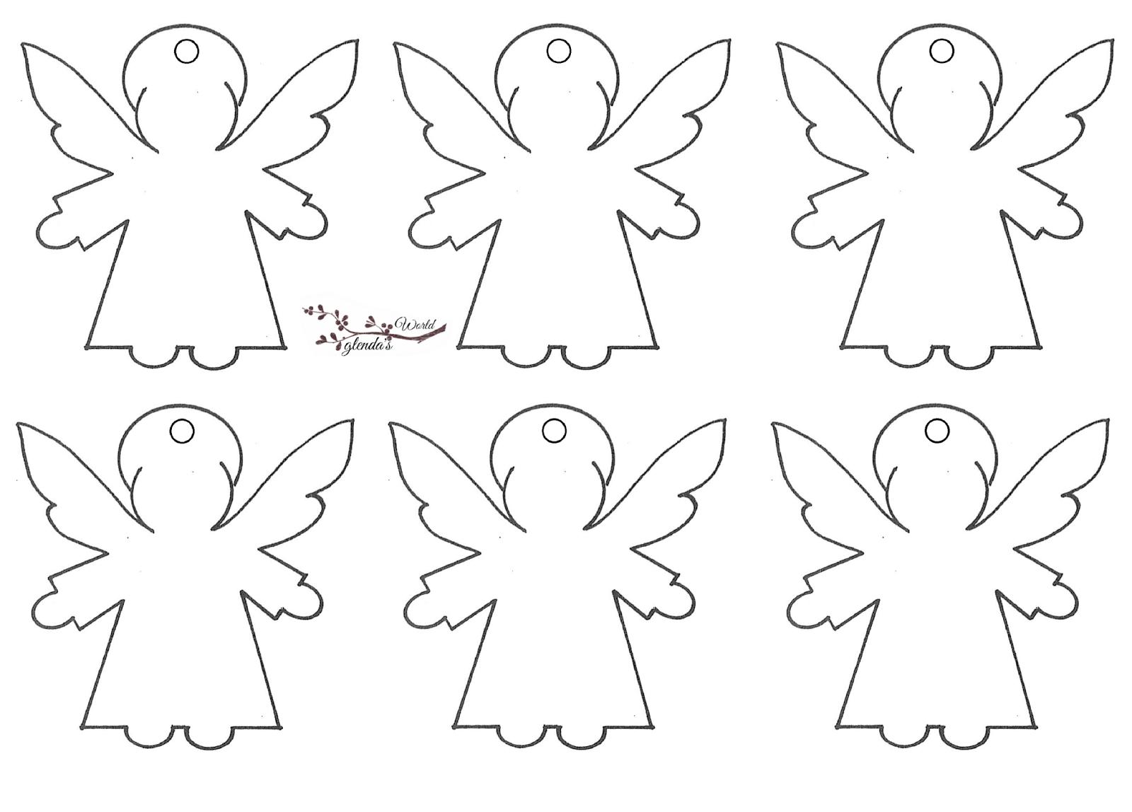 Рождественские ангелы своими руками шаблоны