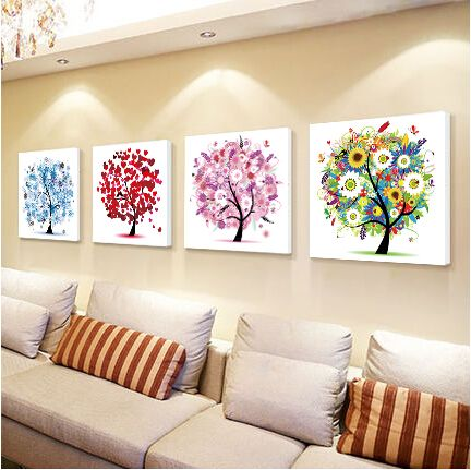 50*50cm 5d diy round diamond painting cross stitch of stones embroidery kits diamond mosaic round crystal paint trees BB021